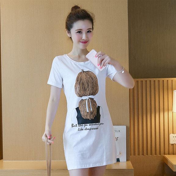 牛奶丝180克双磨   夏天衣服女中长款短袖t恤韩版宽松女装9501