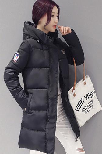 实拍2017女装冬季棉衣中长款韩版加厚冬衣修身棉服外套女 A8665#