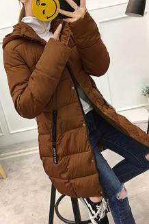 实拍 中长款外套女款冬季加厚羽绒服韩版棉衣棉袄冬装棉服4116