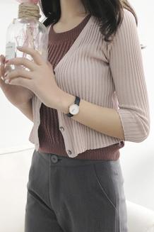 (3月19出货)9131【模特实拍】韩版针织衫开衫女薄款短款小外套女