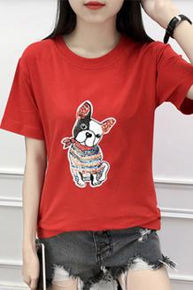 【实拍图】短袖t恤女夏韩版学生打底衫百搭简约显瘦休闲上衣服潮