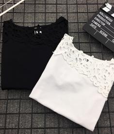 245#实拍 夏季修身T恤镂空女士短袖打底衫体恤
