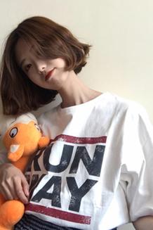 6203# 新款韩版chic百搭字母印花T恤学生宽松显瘦短袖上衣女装