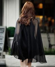 905#夏季新款新款女装大码修身显瘦包臀夜店蝙蝠衫性感雪纺连衣裙