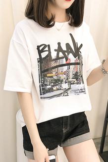066#实拍(已出货)新款女装宽松大码短袖T恤女(纯棉95棉5氨纶)