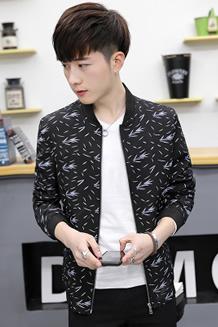 2017秋季男士夹克衫韩版棒球衫夹克男印花潮A348-J501 -p75