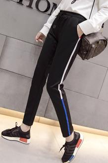 213#【实拍】2017新款韩版学生哈伦裤女运动裤宽松九分裤休闲裤