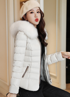 2019冬裝新款女裝棉服短款PU皮羽絨棉衣外套小個子韓版小棉襖修身
