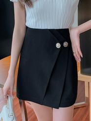 不规则西装半百褶裙裤女春夏2021新款时尚高腰a字裙显瘦半身短裙