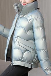 实拍羽绒棉服2021新款亮面免洗冬季短款棉衣女外套爆款小棉袄潮
