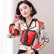 长袖雪纺衫2019新款打底时尚洋气小衫气质遮肚子上衣女装春装