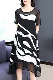 洋气雪纺碎花连衣裙2019新款高端收腰显瘦气质流行女士裙子女夏