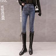 【實拍】【控價】【銷售價不得低于69元】牛仔褲女高腰2019冬加絨