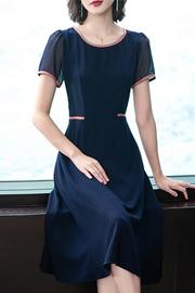 2019款洋气大码女装遮肚显瘦法式微胖mm连衣裙阔太太雪纺长裙