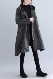 880#实拍2020冬新款加绒宽松韩不规则大码女装毛呢外套限价138