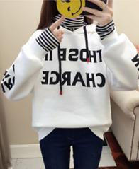 814【实拍#250克大卫衣】2018新款秋冬韩版字母连帽假两件卫衣女