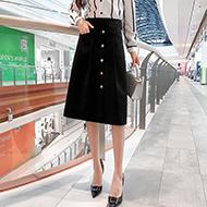 不规则半身裙女2020秋冬新款高腰百搭显瘦A字裙中长款工装一步裙
