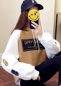 740#实拍加绒加厚秋冬连帽卫衣女2018新款韩版宽松学生外套帽衫