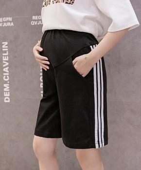 现货实拍孕妇裤子夏薄款外穿五分运动裤潮妈A字阔腿宽松短裤纯棉