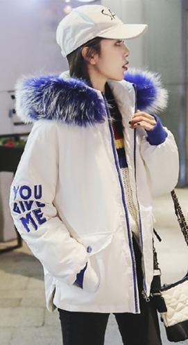 实拍2018冬新款大毛领短款羽绒棉服韩版面包服派克宽松学生外套女