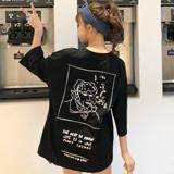 实拍 2020新款6535棉春夏短袖t恤女 bf怪味少女生蹦迪嘻哈hiphop