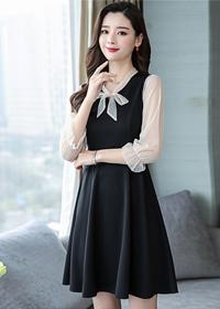 5970实拍2019春装新款洋装小晚礼服裙女宴会名媛生日派对连衣裙