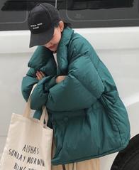 实拍2018韩版新款大码加厚面包服女羽绒服棉服学生立领短款外套