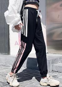 实拍~2019春装街拍帅气运动裤学生宽松ulzzang百搭潮显瘦束脚裤