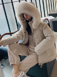 限价118实拍19冬季网红学生短款羽绒服女chic学院风加厚宽松棉服