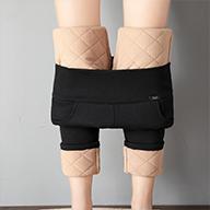 實拍視頻 新款秋冬季韓版修身加厚保暖棉褲外穿鉛筆褲#10201