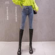 【实拍】【销售价不得低于69元】2019秋冬新款显瘦小脚裤牛仔裤女