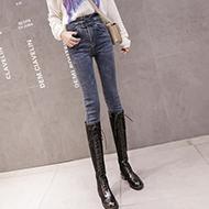 【實拍】【控價】【銷售價不得低于69元】牛仔褲女加絨小腳褲秋冬