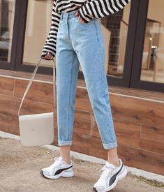 宽松显瘦女士牛仔裤女直筒裤子2019新款cec老爹裤坠感阔腿裤