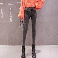 【实拍】【销售价不得低于69元】高腰牛仔裤女秋季小脚弹力铅笔裤