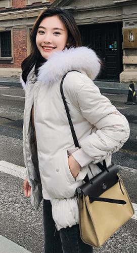 实拍2018冬季新款羽绒服 女短款韩版大毛领休闲棉服棉衣外套902#