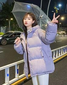 实拍2020新款韩版羽绒服短款时尚宽松小个子加厚棉衣女面包服外套