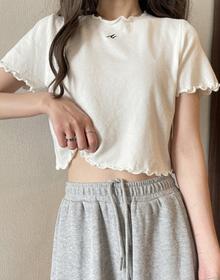 1296#官图实价 65聚酯纤维 30棉 5氨纶2021新款小衫露脐短袖T恤