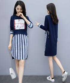 春装流行裙子2020年新款女装潮春秋高端气质网红卫衣连衣裙女