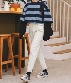 6262实拍2020年春季新款韩版宽松高腰显瘦直筒裤阔腿老爹哈伦裤女