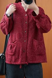 实拍8502#2020年秋季复古文艺立领提花刺绣棉麻长袖宽松衬衫外套