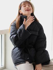 實拍新款羽絨服 女短款小個子收腰棉服學生棉服外套