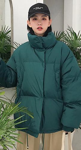 实拍新款ins超火面包服女大码宽松学生韩版短款棉衣加厚羽绒棉服