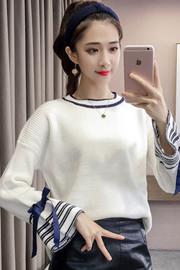 1510#秋冬季打底衫女2018毛衣百搭长袖韩版显瘦针织衫