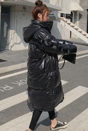 实拍棉服女中长款冬季2019新款棉衣外套小个子韩版宽松面包服