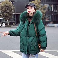 管网图秋冬新款宽松大码短款羽绒服女显瘦小个子加厚外套棉衣女