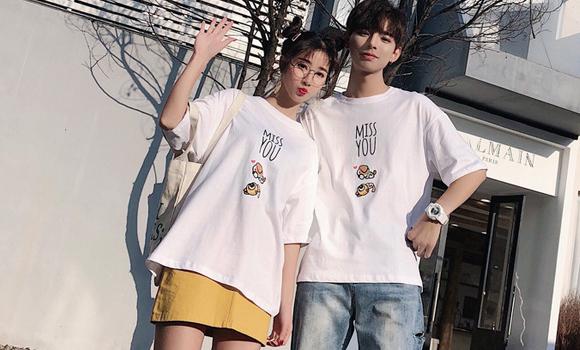 【实拍】现货 6535精梳棉 2019新款胖mm短袖V领T恤