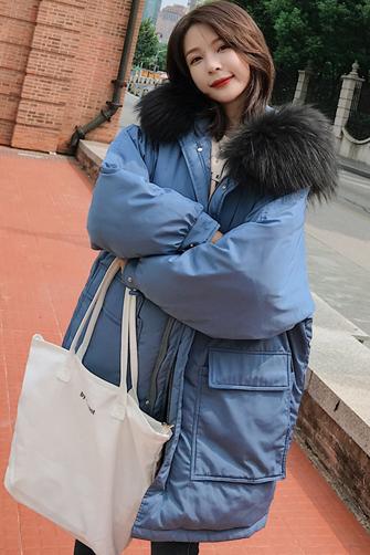 实拍新款大口袋棉衣女韩版宽松羽绒棉服女连帽ins学生外套面包服