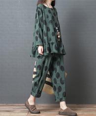 女秋季新款2018韩版宽松大码女装时尚舒适上衣裤子套装