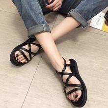 实拍实价2019夏季新品韩版流行女鞋气质性感显瘦露趾外穿女凉鞋