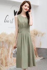 连衣裙2019新款夏季韩版很仙的法国小众桔梗裙流行夏天无袖裙子女